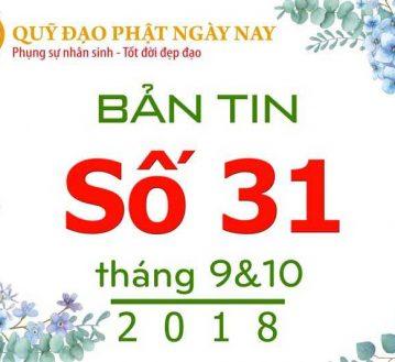 BẢN TIN SỐ 31: THÁNG 9 & 10 NĂM 2018 (BT31)