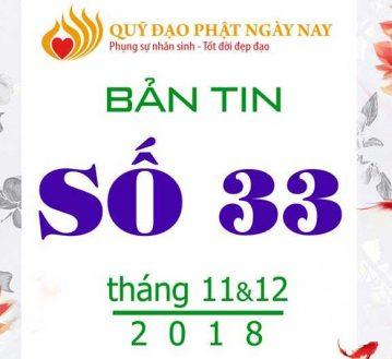 BẢN TIN PHẬT SỰ – PHỤNG SỰ SỐ 33 (THÁNG 11&12) (BT33)
