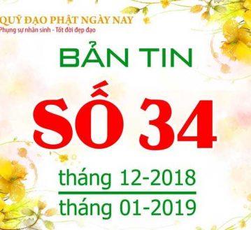 BẢNG TIN SỐ 34 (THÁNG 11/2018 VÀ THÁNG 01/2019)  BT34