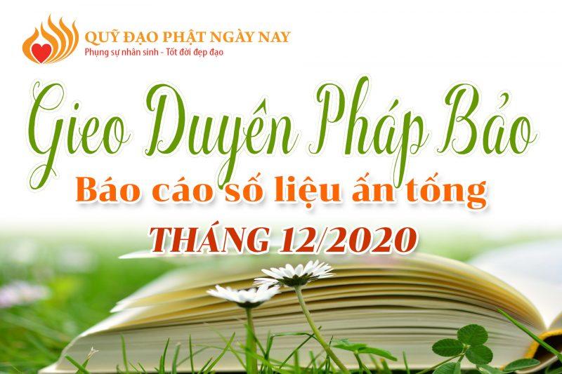 BÁO CÁO SỐ LIỆU ẤN TỐNG TRONG THÁNG 12/2020