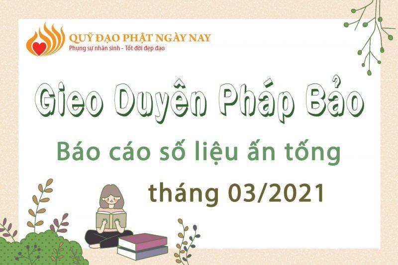 BÁO CÁO SỐ LIỆU ẤN TỐNG TRONG THÁNG 3/2021
